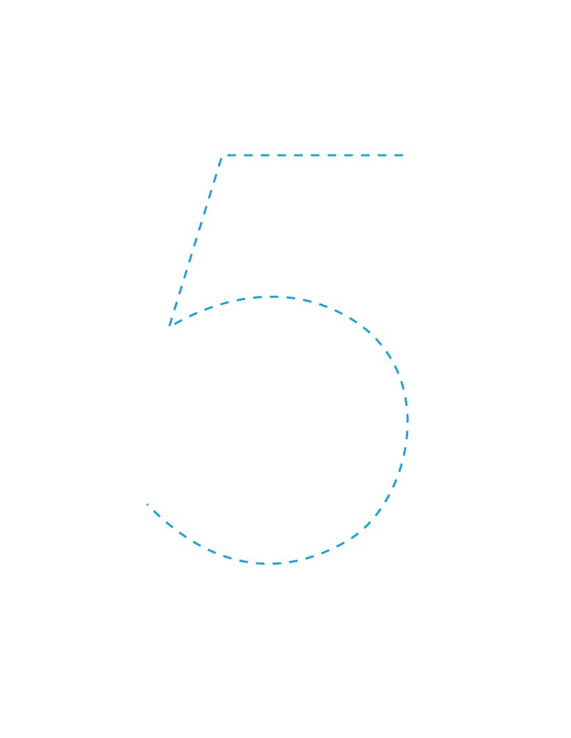 The Number 5 how-to draw lesson