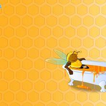 Bathing Bee wallpaper