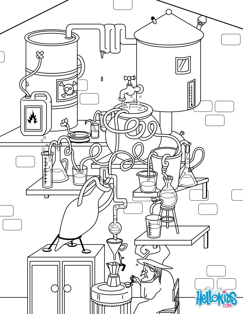 Brewing Potions coloring page
