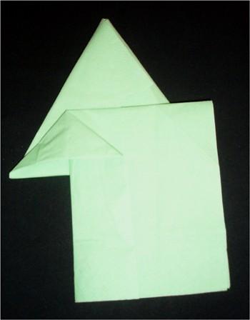 Folding a Christmas Tree Napkin craft for kids