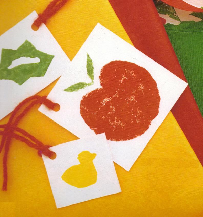 Gift Card Potato Stamp craft for kids