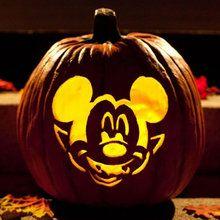 Halloween Mickey Vampire Pumpkin Stencil printable stencil