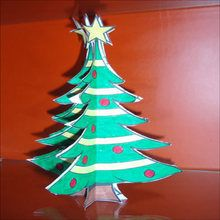 Paper Christmas Tree Decoration craft for kids