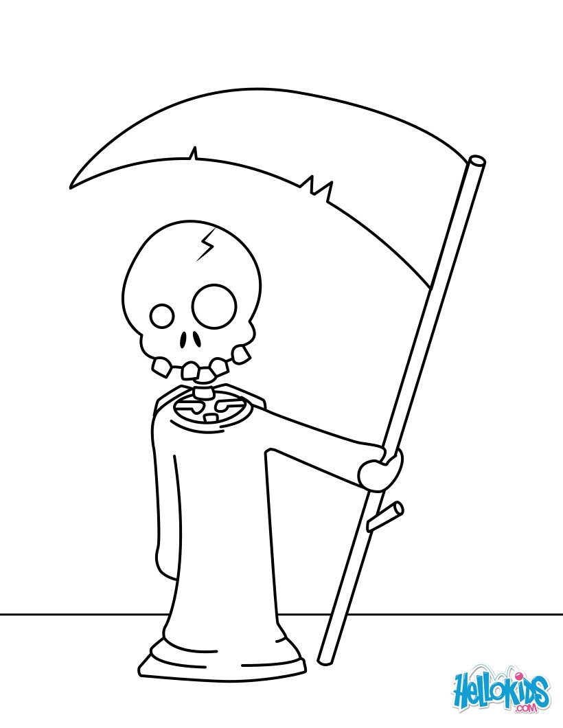 Skeleton activities, crafts and bone chilling coloring pages for kids
