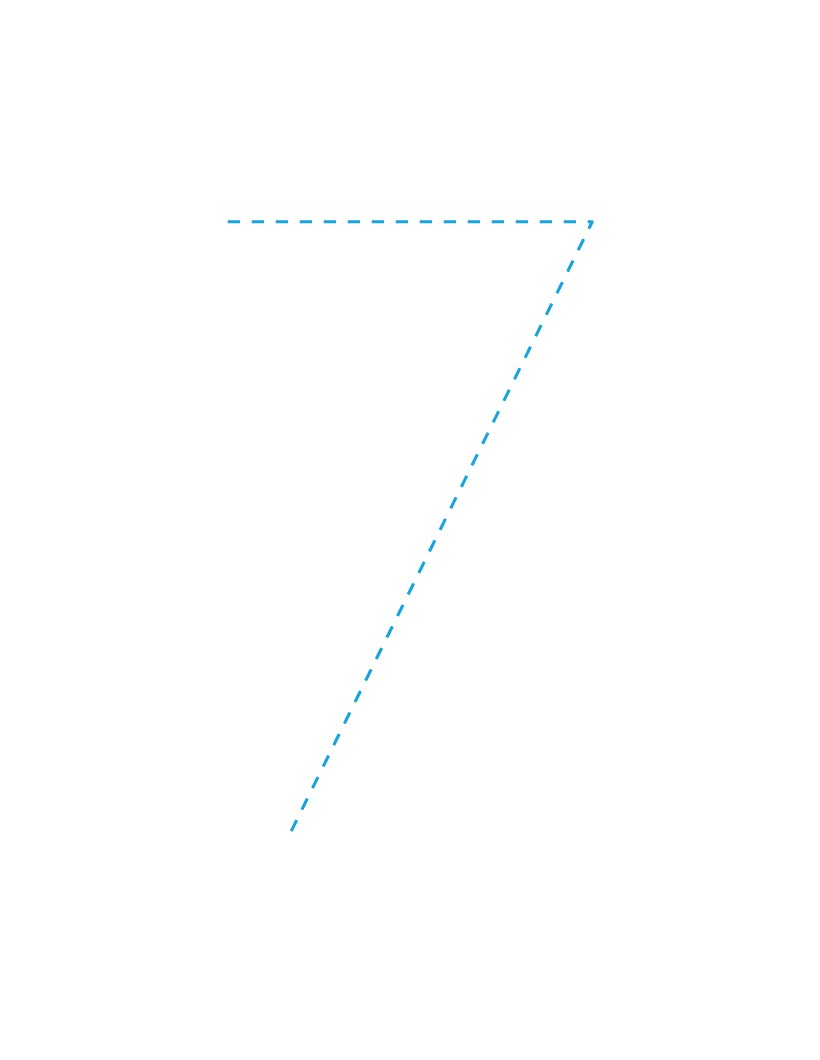 The Number 7 how-to draw lesson