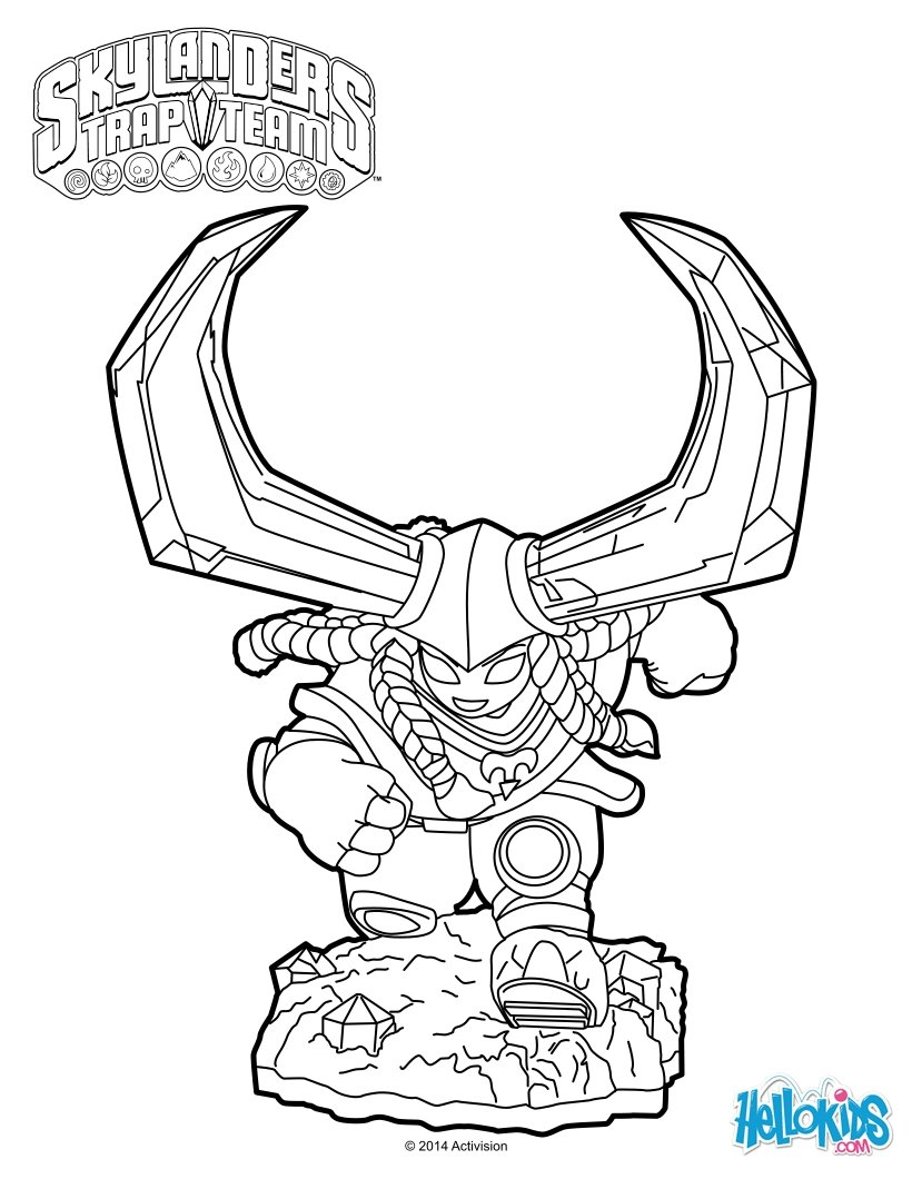 Head Rush Coloring Pages Hellokids Com Skylanders Trap Team Coloring Pages