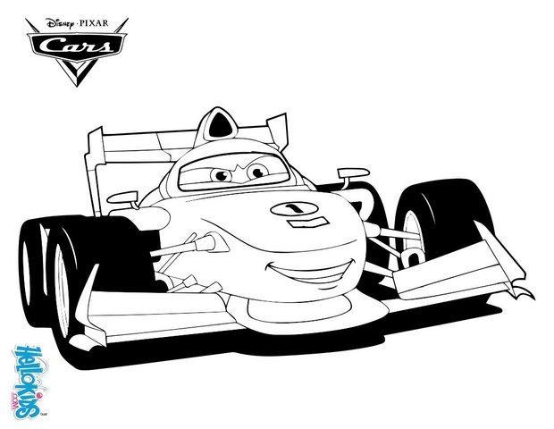 francesco bernoulli - cars 2 coloring pages - hellokids