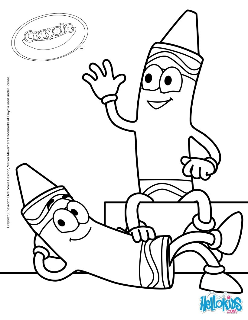 Crayola 20 coloring pages - Hellokids.com