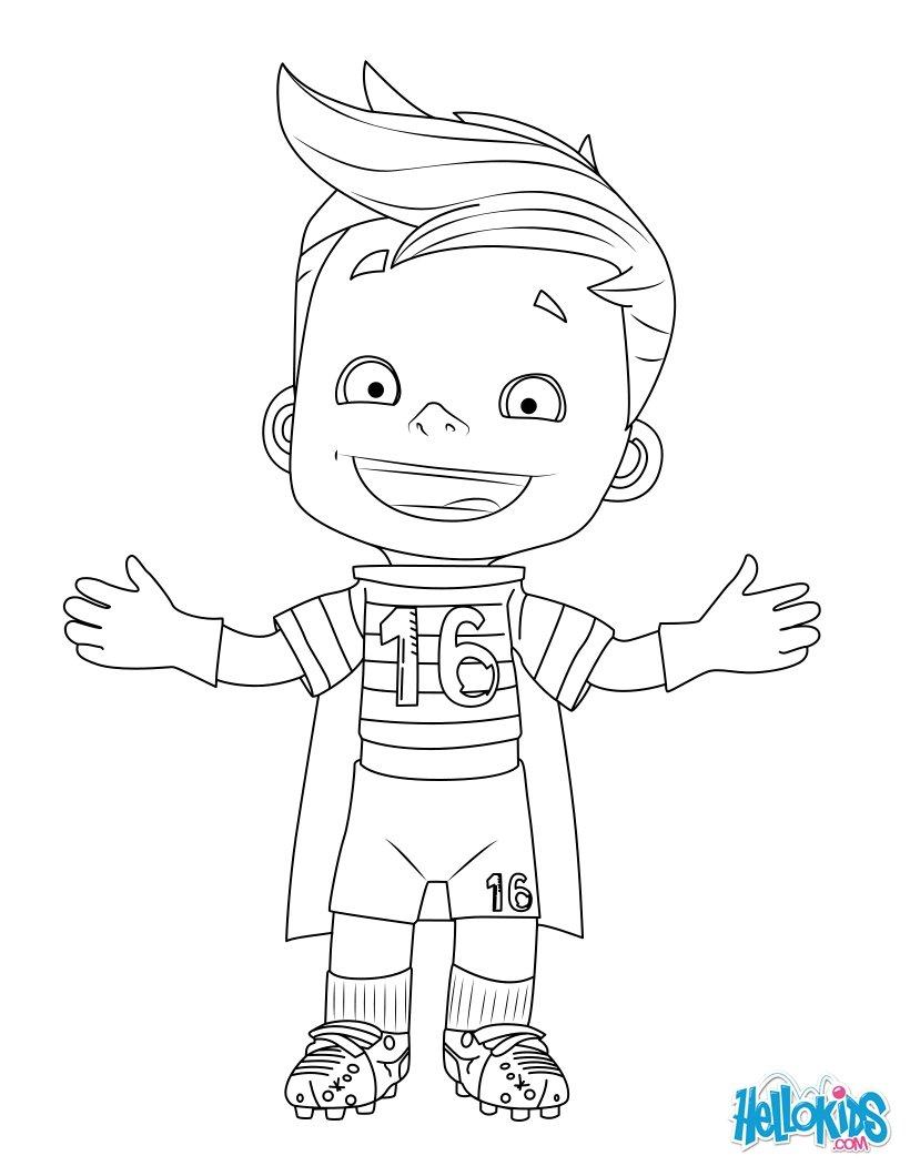 Mascot EURO 2016 coloring page