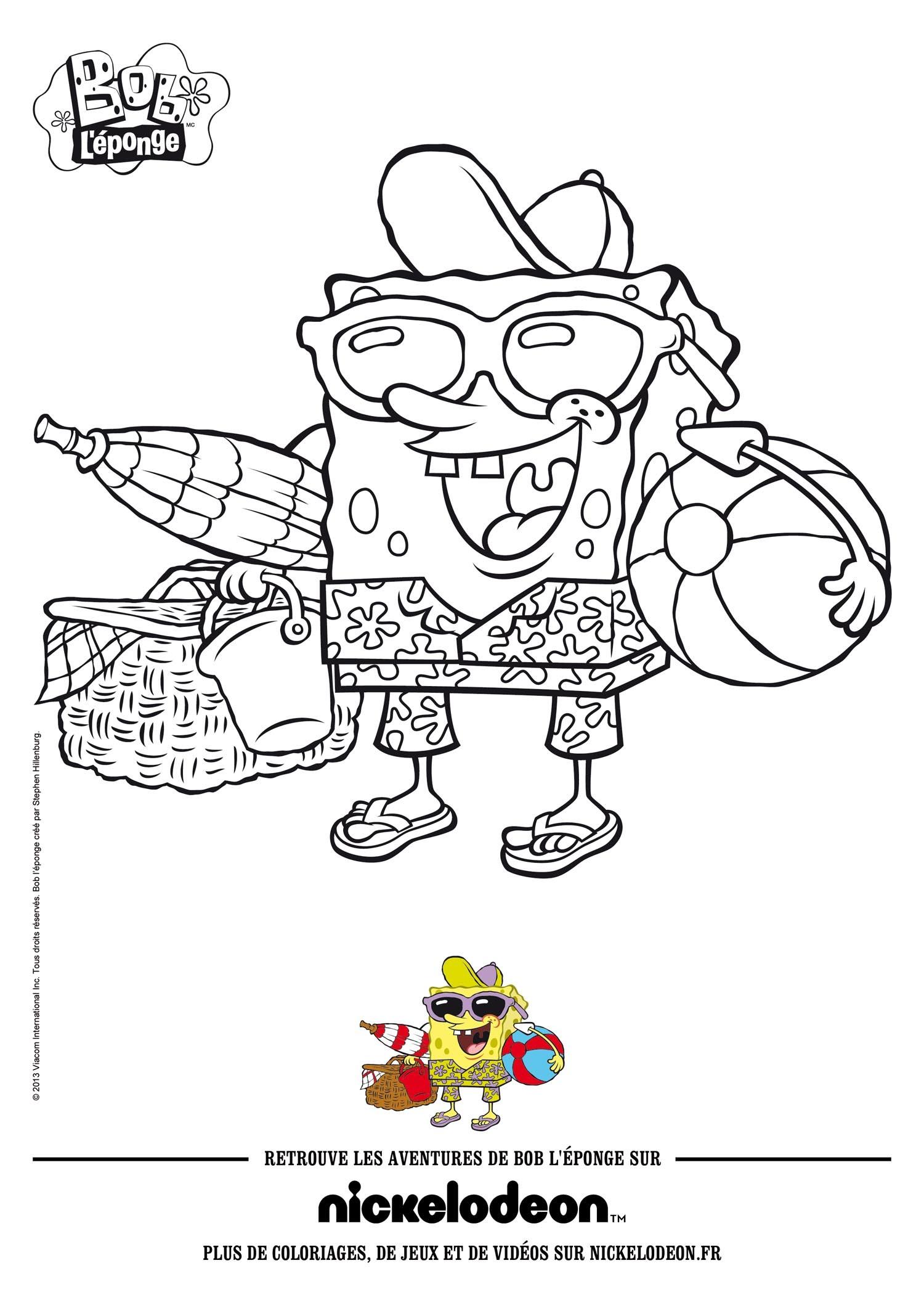 Sponge Bob Coloring Pages Hellokids Com
