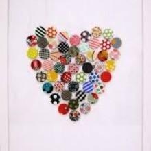 Valentine's Day Craft - Button Art