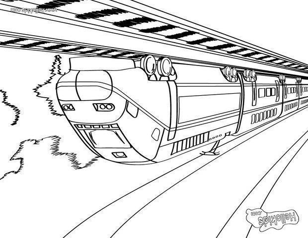 big train coloring page