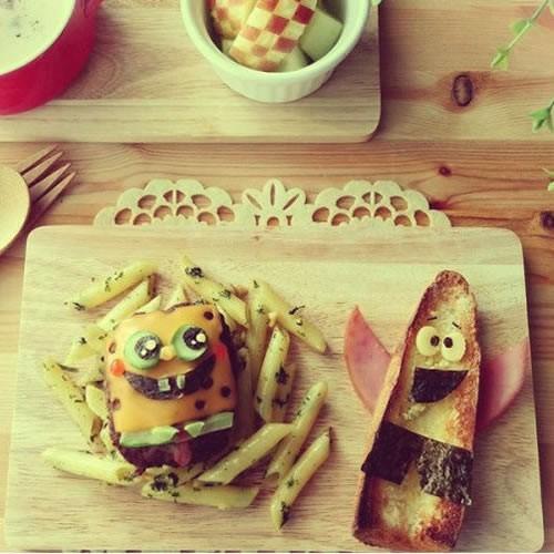 How To Craft Spongebob Burger And Fries Hellokidscom
