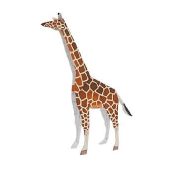 2D Giraffe paper toy