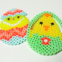 Easter Eggs Ironing Beads Designs craft for kids