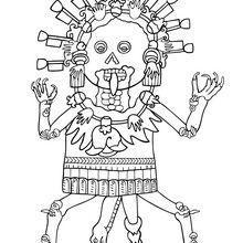 Mictlantecuhtli coloring page