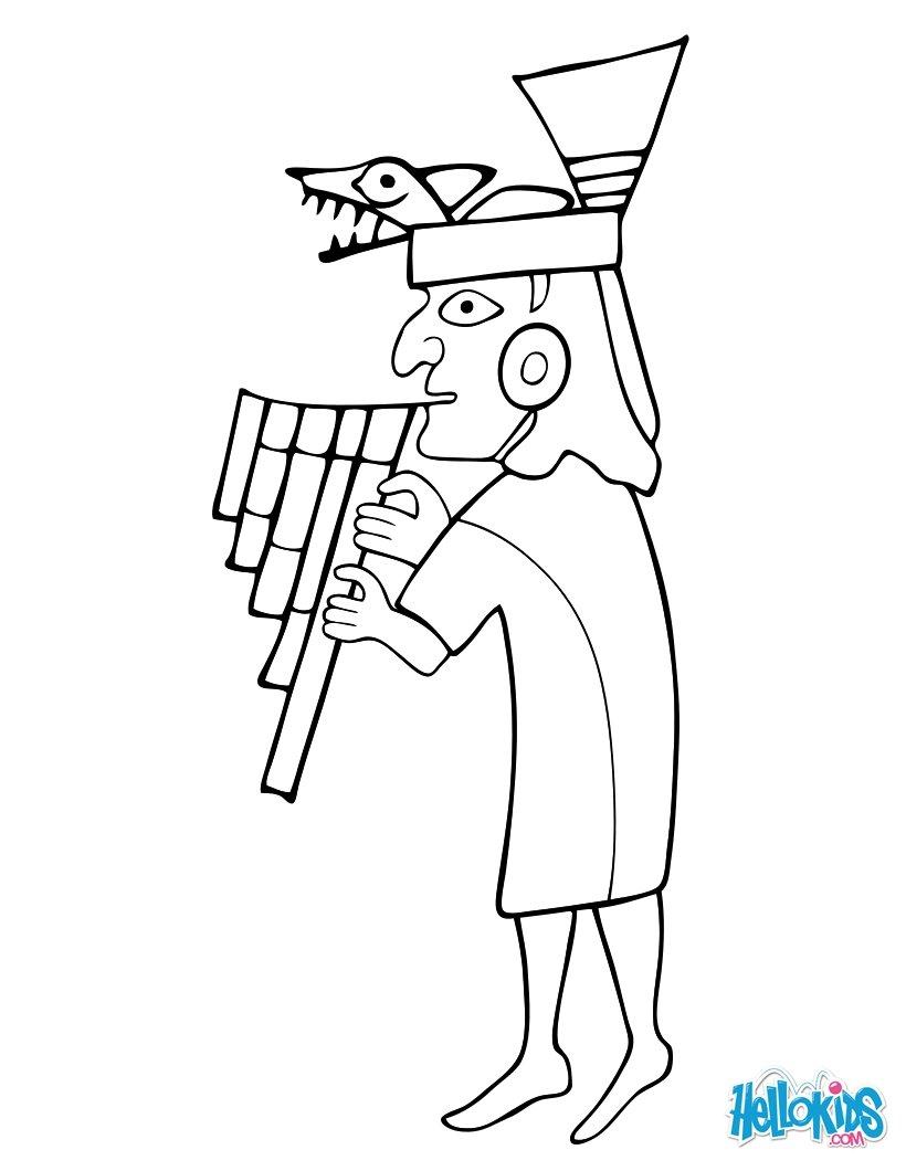 moche musician coloring pages hellokids com