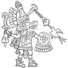 Quetzalcoatl coloring page