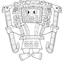 Tiwanaku coloring page