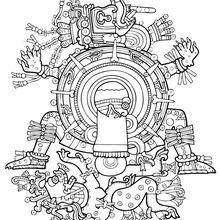 Xolotl coloring page