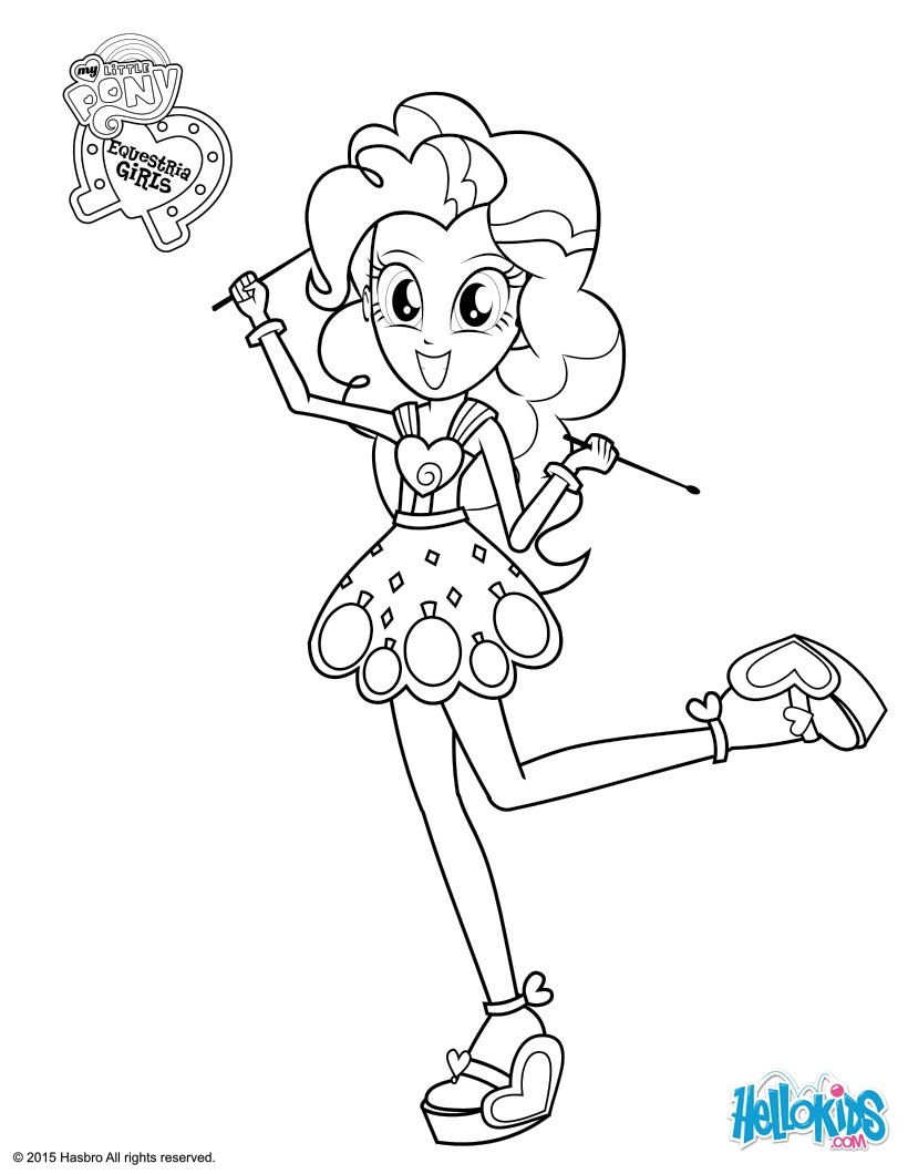 Pinkie pie coloring pages - Hellokids.com