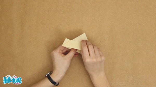 The origami boat craft for kids