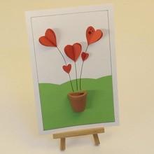 3D Hearts Card
