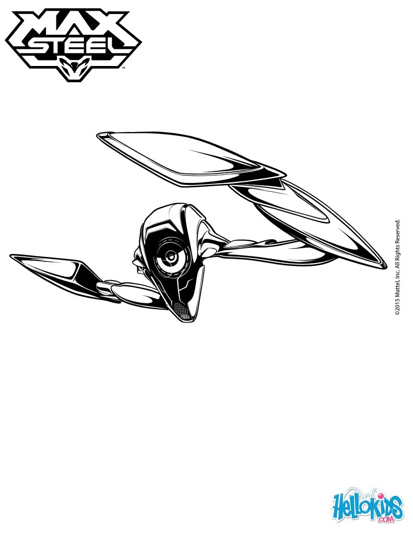 Steel in action coloring page
