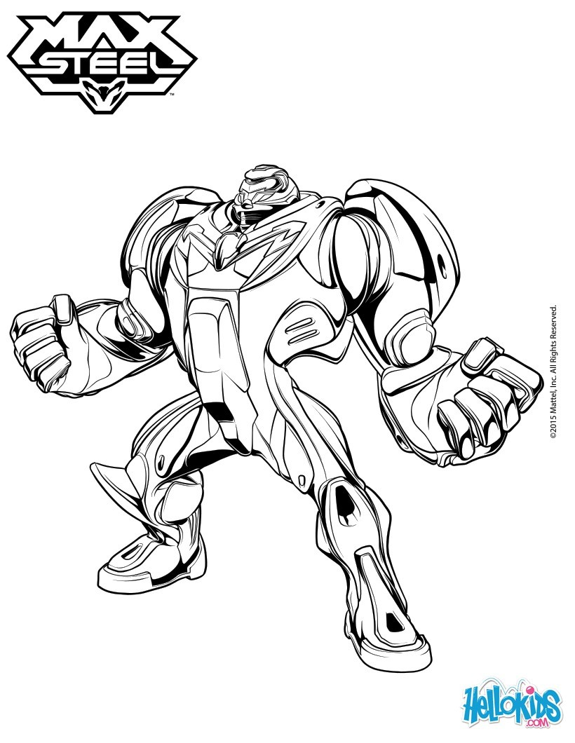 max steel coloring pages - max steel free colouring pages