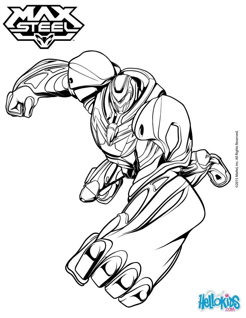 Max Steel Printable Coloring Pages Coloring Pages