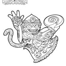 flip wreck fling kong coloring page