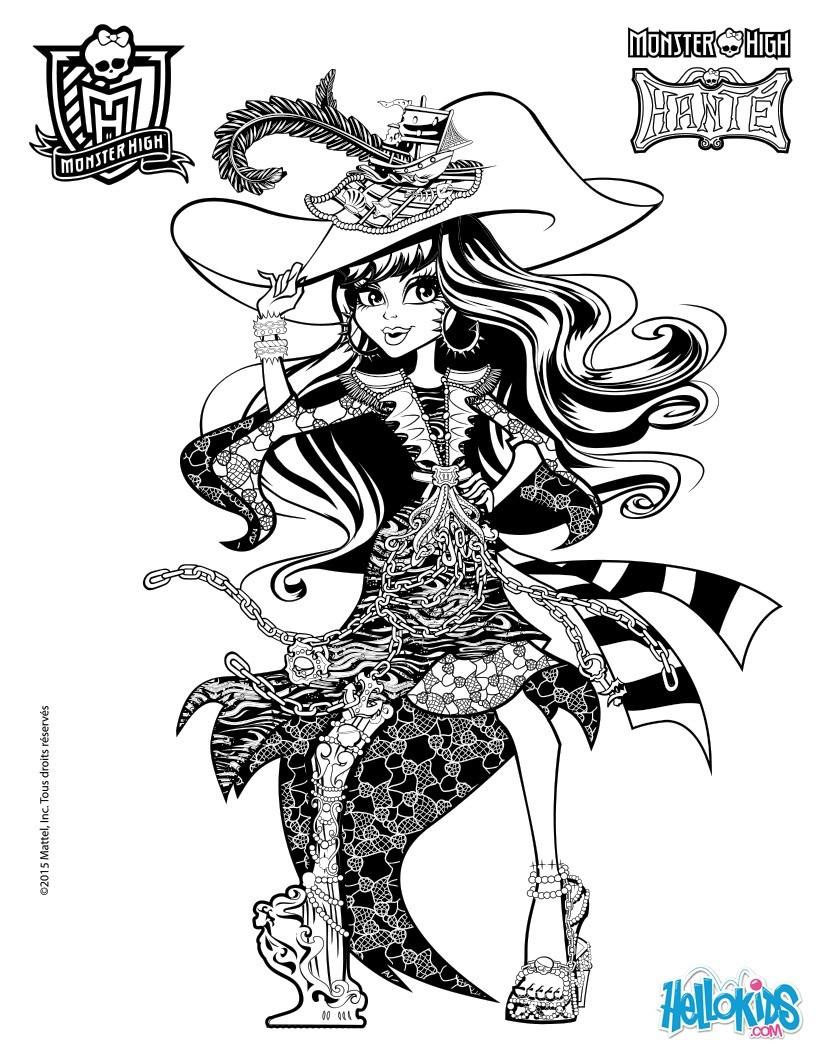 Todo sobre Monster High: Dibujos para Imprimir de Monster High