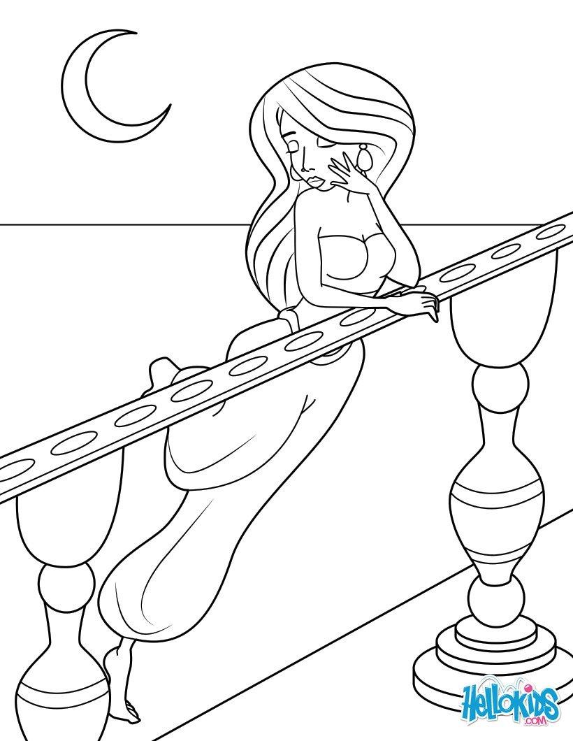 Moonlight Serenade coloring page