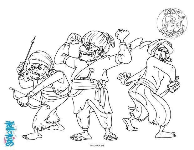Pirates coloring page