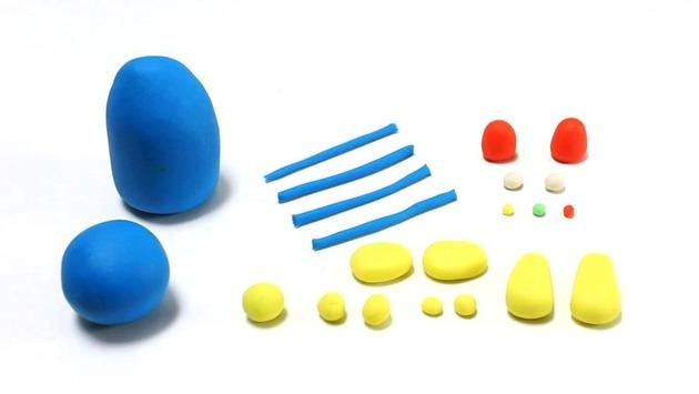 Robot Plasticine Figure craft for kids