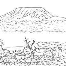 Kilimanjaro coloring page
