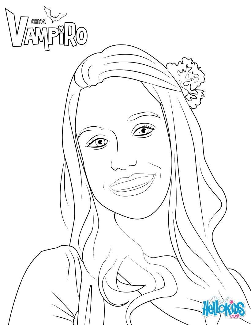 Relativ Marylin de chica vampiro coloring pages - Hellokids.com KF24