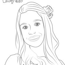 Marylin de Chica Vampiro coloring page