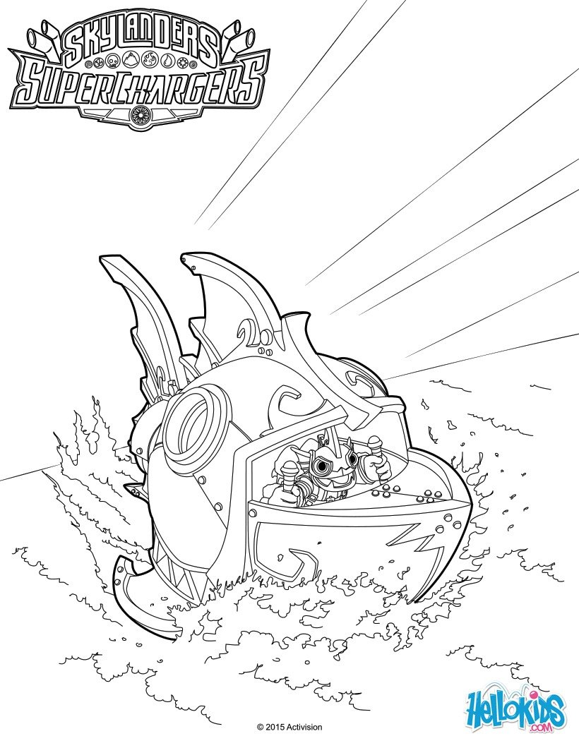 Reef Ripper Submarine Coloring Page Color Online Print