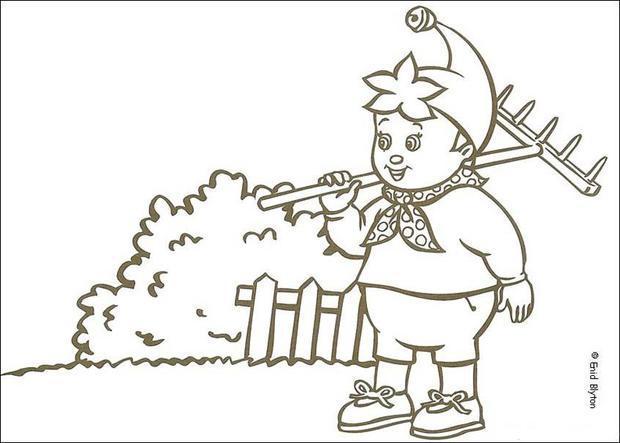 Noddy Gardening coloring page