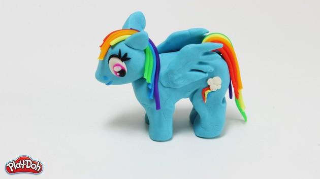 Rainbow Dash plasticine craft for kids