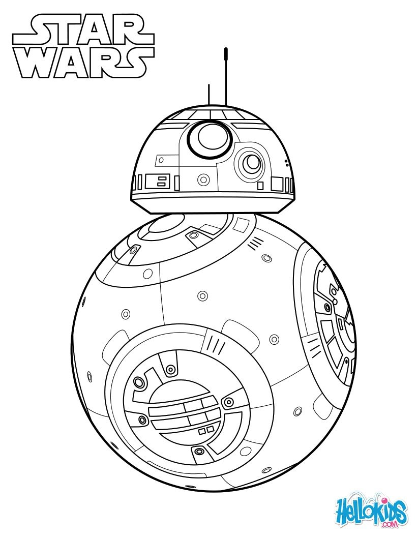 Bb-8 - the force awakens coloring pages - Hellokids.com