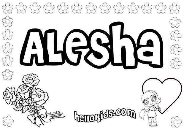Alesha coloring pages - Hellokids.com