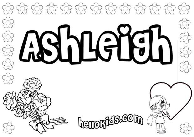 Ashleigh Coloring Pages