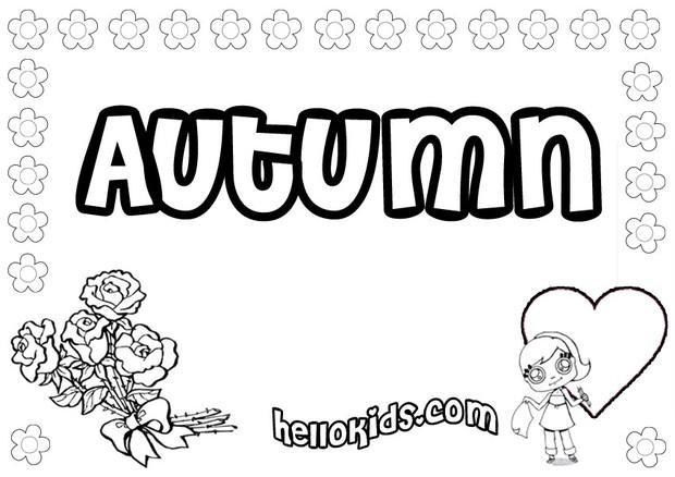 Autumn coloring pages Hellokidscom