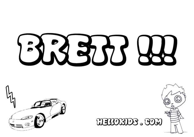 Brett coloring page