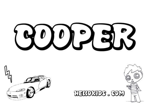 Cooper coloring page