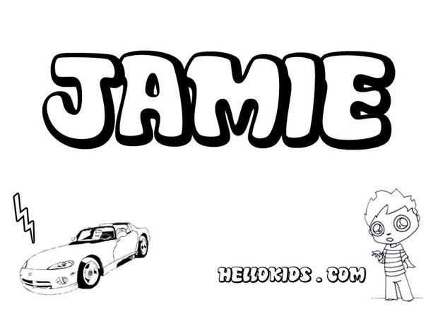 Jamie coloring pages - Hellokids.com