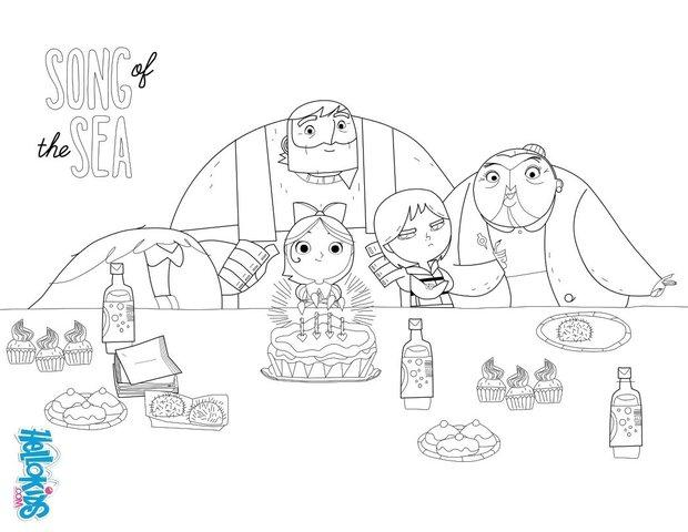 Song Of The Sea Birthday Party Coloring Pages Hellokids Com
