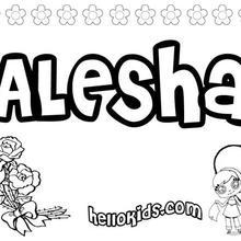 Alesha coloring page